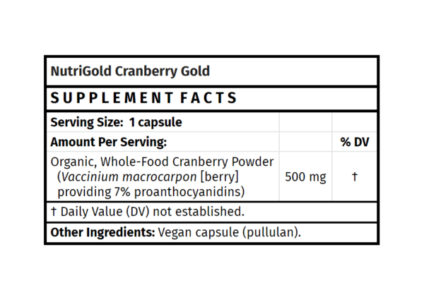 nutrigold cranberry gold supplement madison wi the healthy place