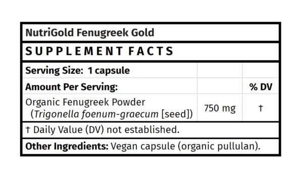 nutrigold fenugreek gold fenugreek supplement fenugreek capsules madison wi