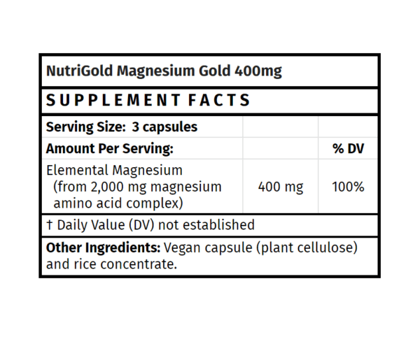 nutrigold magnesium gold 400mg madison wi the healthy place