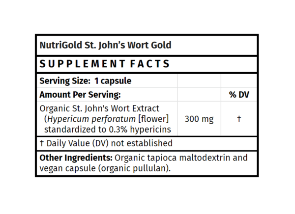 nutrigold st. john's wort gold supplement madison wi the healthy place