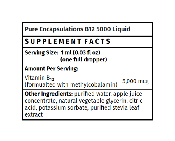 pure encapsulations b12 5000 mcg liquid b12 supplement madison wi the healthy place