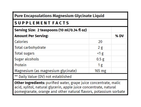 pure encapsulations magnesium glycinate liquid supplement madison wi the healthy place