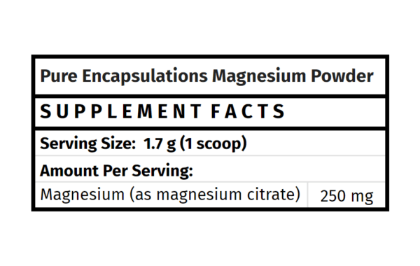 pure encapsulations magnesium powder for healthy bone mineralization the healthy place madison wi