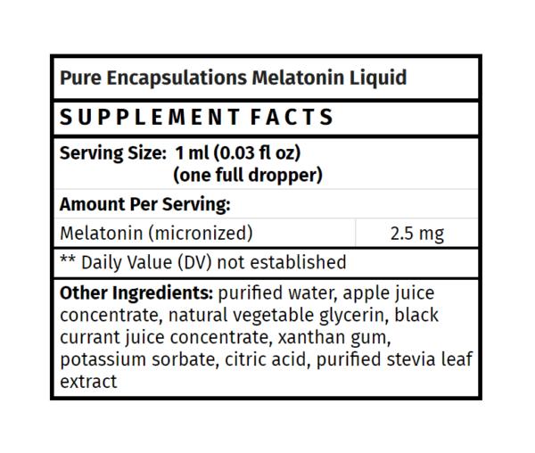 pure encapsulations melatonin liquid sleep aid supplement madison wi