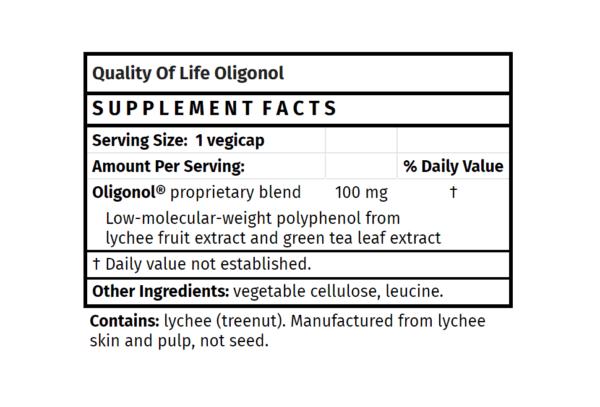 Oligonol quality of life immune health supplement antioxidant support