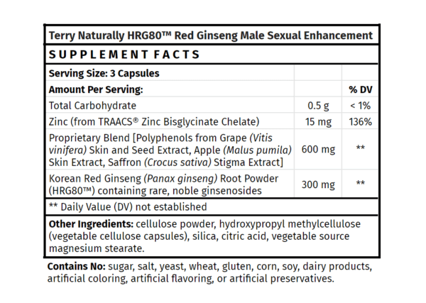 Terry Naturally Red Ginseng Male Enhancement
