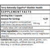 Terry Naturally SagaPro Bladder Health Supplement Facts